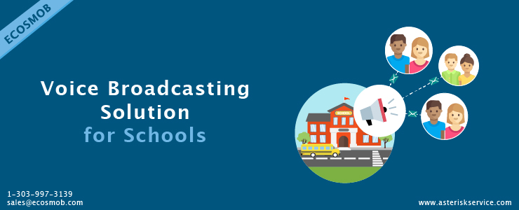 Voice broadcasting solution for schools